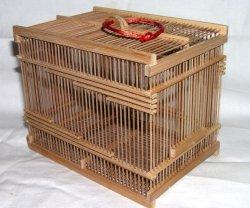 画像1: 竹製虫カゴ〔煤竹・大〕