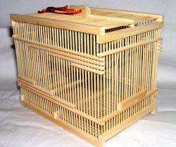 画像1: 竹製虫カゴ〔白・大〕