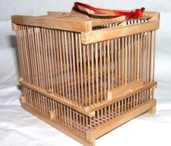 画像1: 竹製虫カゴ〔煤竹・小〕