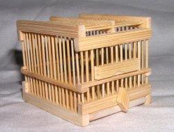 画像1: 竹製虫カゴ〔白・極小〕絶版品につき貴重