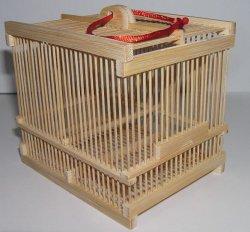 画像1: 竹製虫カゴ〔白竹・小〕
