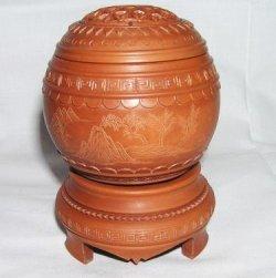 画像1: 銘品・コオロギ類用養盆型飼育壷 2006年・毬モデル